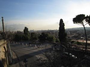 Utsikt från Pincio en januaridag 2011
