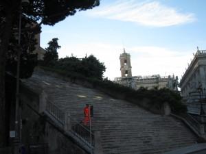Trappan till S. Maria in Aracoeli.