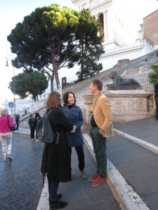 Projektgruppen samlas vid Capitolium