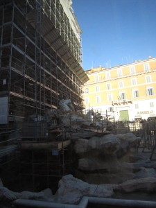 Avspärrad Fontana di Trevi