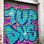 Graffitismyckad serranda