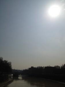 Solförmörkelse över Tibern 20 mars 2015.