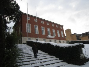 Svenska institutet i snö, februari 2012