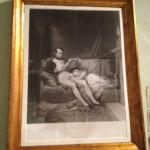 Napoleon med son i sitt arbetsrum (eller, lite roligare: Napoleon läser godnattsaga).