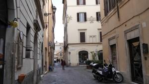 Trastevere, inte långt från S. Cecilia in Trastevere