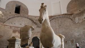 Utställning om Juturnas källa, Forum Romanum.
