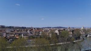Rom, sett från Aventinen förut idag.